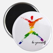 "Gay Pride - Be Yourself 2.25"" Magnet (100 pack)"