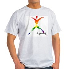 Gay Pride - Be Yourself Ash Grey T-Shirt