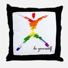 Gay Pride - Be Yourself Throw Pillow