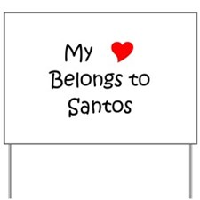 Santos Yard Sign