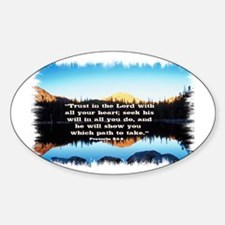 Seek His Will Oval Decal