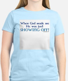 When God Made Me.. Women's Pink T-Shirt