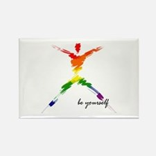 Gay Pride - Be Yourself Rectangle Magnet