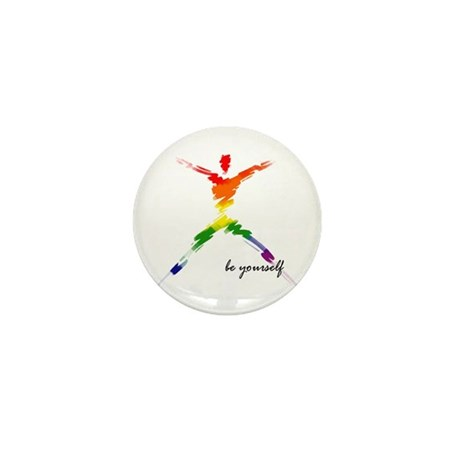 Gay Pride - Be Yourself Mini Button (10 pack)