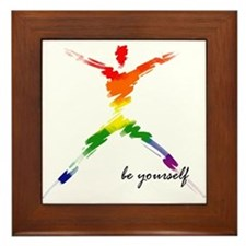 Gay Pride - Be Yourself Framed Tile