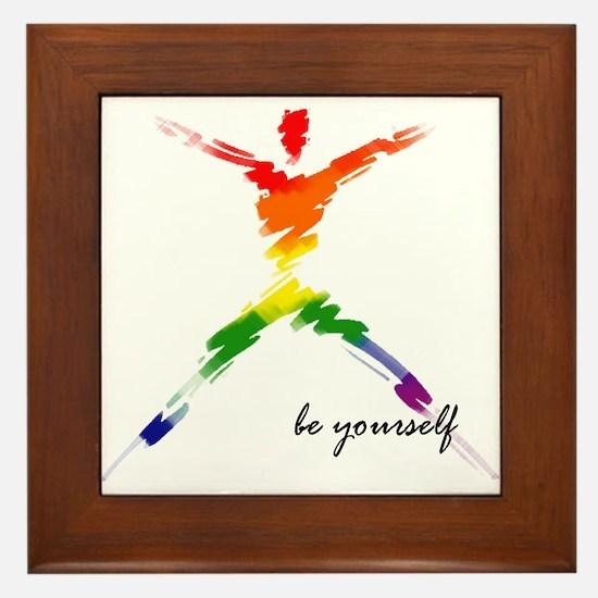 Gay Pride - Be Yourself Framed Tile