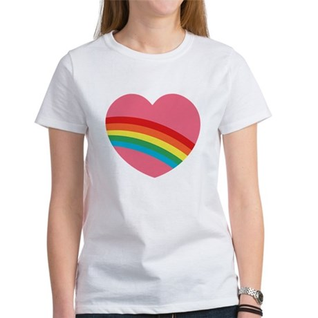 80s Rainbow Heart Women's T-Shirt
