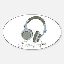 Junglist Headphones Oval Decal