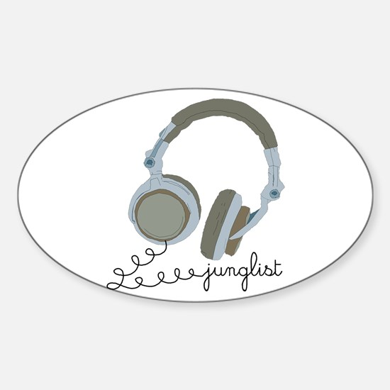 Junglist Headphones Oval Decal