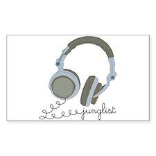 Junglist Headphones Rectangle Stickers
