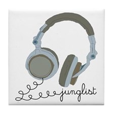 Junglist Headphones Tile Coaster