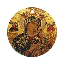 Perpetual Help Ornament (Round)