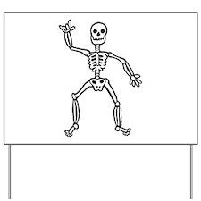 ILY Skeleton Yard Sign