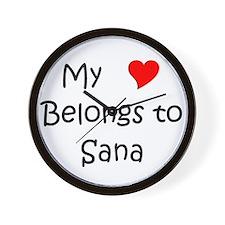 Cute My heart belongs valentin Wall Clock