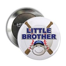 """Little Brother Baseball 2.25"""" Button (10 pack)"""