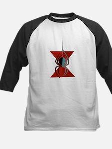 Red Hourglass Spider Kids Baseball Jersey