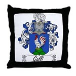 Galli Family Crest Throw Pillow