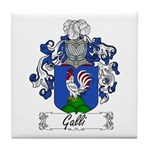 Galli Family Crest Tile Coaster
