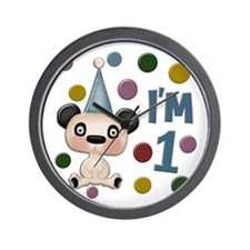 """I'm 1"" Bear With Hat Wall Clock"