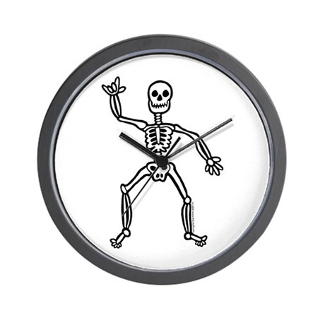 ILY Skeleton Wall Clock