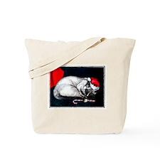 Sleeping Santa Claws Tote Bag