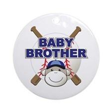 Baby Brother Baseball Ornament (Round)