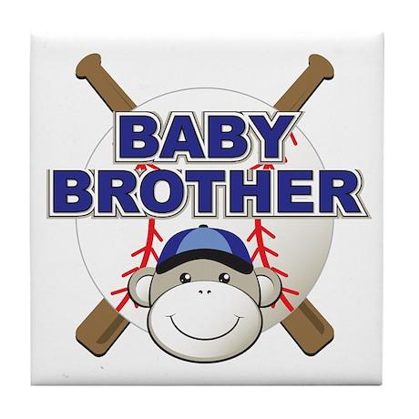 Baby Brother Baseball Tile Coaster