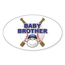Baby Brother Baseball Oval Decal