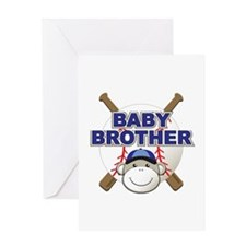 Baby Brother Baseball Greeting Card