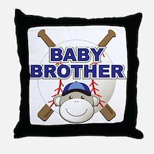 Baby Brother Baseball Throw Pillow