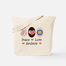 Peace Love Archery Tote Bag