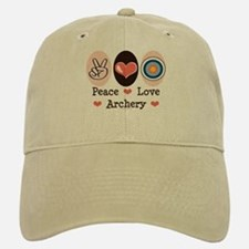 Peace Love Archery Baseball Baseball Cap