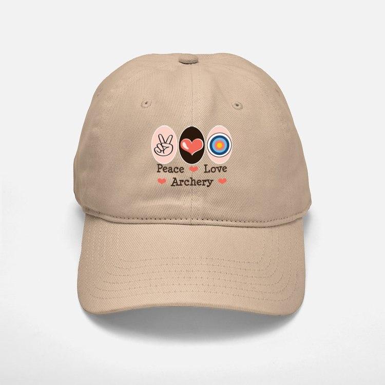 Peace Love Archery Baseball Baseball Cap