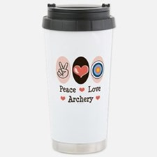 Peace Love Archery Stainless Steel Travel Mug