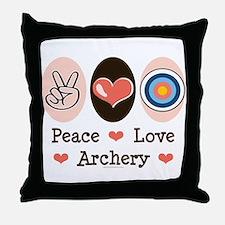 Peace Love Archery Throw Pillow