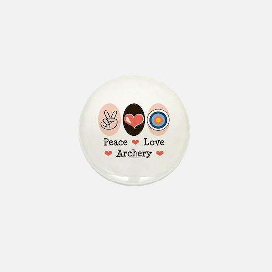 Peace Love Archery Mini Button