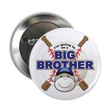 """Big Brother To Be Baseball 2.25"""" Button"""