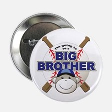 "Big Brother To Be Baseball 2.25"" Button"