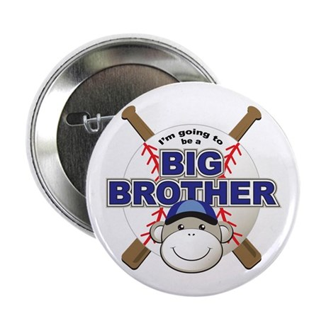 "Big Brother To Be Baseball 2.25"" Button (100 pack)"