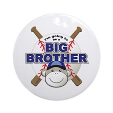 Big Brother To Be Baseball Ornament (Round)