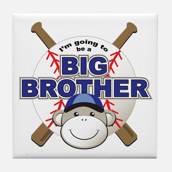 Big Brother To Be Baseball Tile Coaster