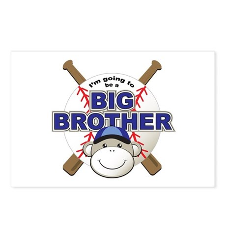 Big Brother To Be Baseball Postcards (Package of 8