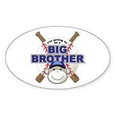 Big Brother To Be Baseball Oval Decal