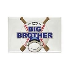 Big Brother To Be Baseball Rectangle Magnet