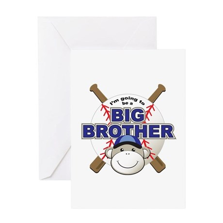 Big Brother To Be Baseball Greeting Card