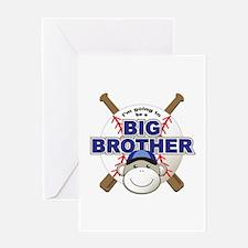 Big Brother To Be Baseball Greeting Card