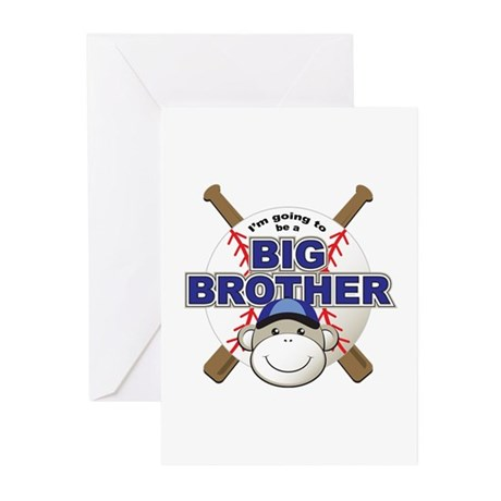 Big Brother To Be Baseball Greeting Cards (Pk of 1