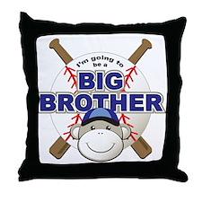 Big Brother To Be Baseball Throw Pillow