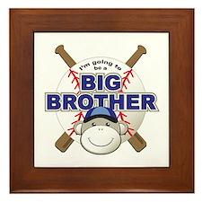 Big Brother To Be Baseball Framed Tile