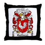 Gallucci Family Crest Throw Pillow